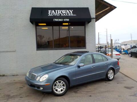 2003 Mercedes-Benz E-Class for sale at FAIRWAY AUTO SALES, INC. in Melrose Park IL