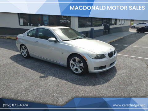 2009 BMW 3 Series for sale at MacDonald Motor Sales in High Point NC