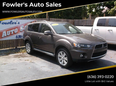 2010 Mitsubishi Outlander for sale at Fowler's Auto Sales in Pacific MO