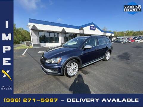 2017 Volkswagen Golf Alltrack for sale at Impex Auto Sales in Greensboro NC