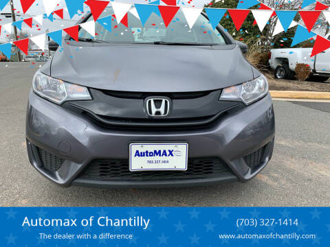 2017 Honda Fit for sale at Automax of Chantilly in Chantilly VA