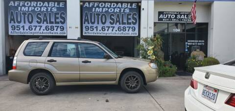 2008 Subaru Forester for sale at Affordable Imports Auto Sales in Murrieta CA