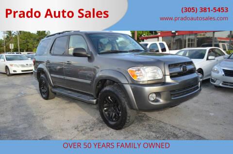 2007 Toyota Sequoia for sale at Prado Auto Sales in Miami FL