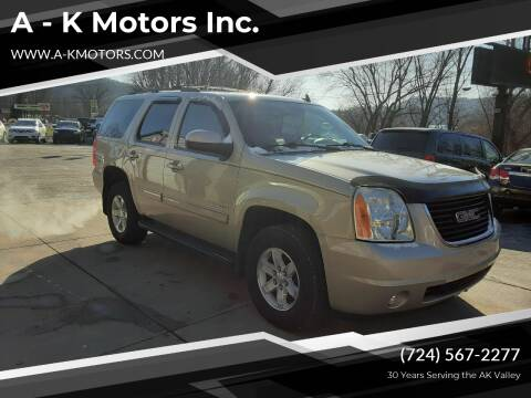 2012 GMC Yukon for sale at A - K Motors Inc. in Vandergrift PA