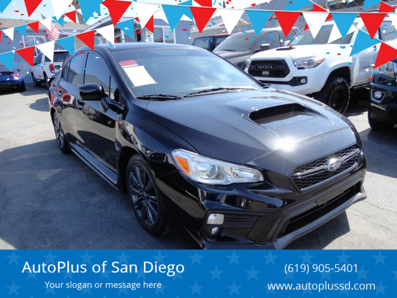 2020 Subaru WRX for sale at AutoPlus of San Diego in Spring Valley CA