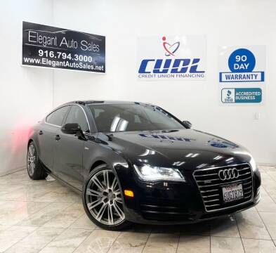 2012 Audi A7 for sale at Elegant Auto Sales in Rancho Cordova CA
