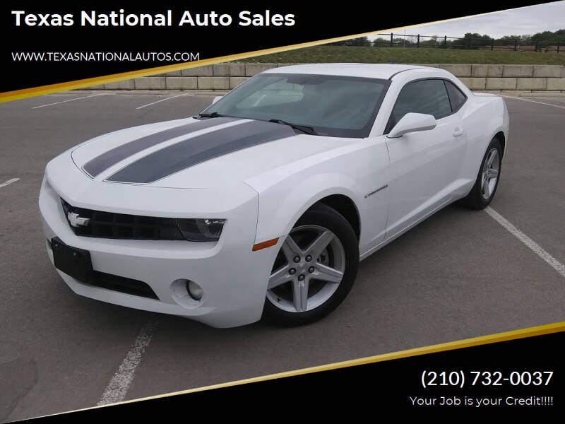 2012 Chevrolet Camaro for sale at Texas National Auto Sales in San Antonio TX