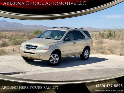 2009 Kia Sorento for sale at Arizona Choice Automotive LLC in Mesa AZ