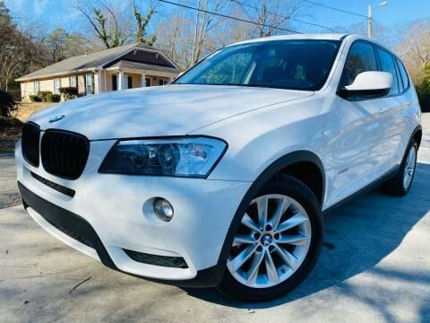 2014 BMW X3 for sale at Cobb Luxury Cars in Marietta GA