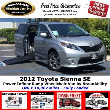 2012 Toyota Sienna for sale at Wheelchair Vans Inc - New and Used in Laguna Hills CA