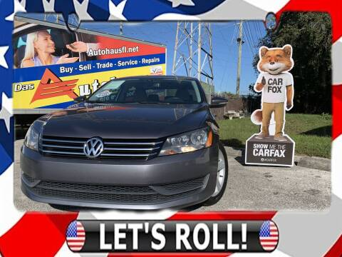2012 Volkswagen Passat for sale at Das Autohaus Quality Used Cars in Clearwater FL