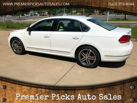 2013 Volkswagen Passat for sale at Premier Picks Auto Sales in Bettendorf IA