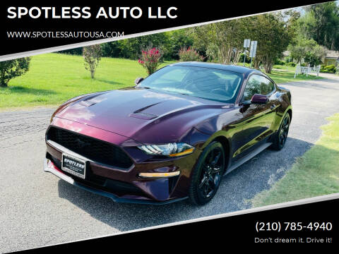 2018 Ford Mustang for sale at SPOTLESS AUTO LLC in San Antonio TX