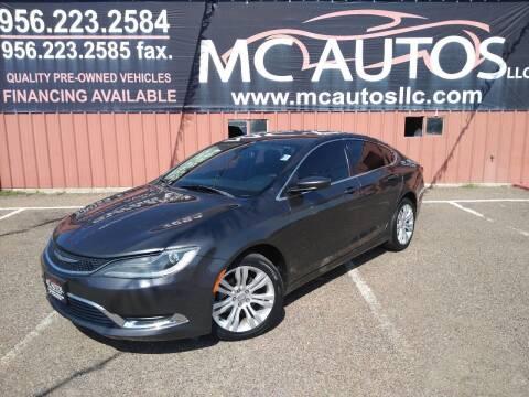 2015 Chrysler 200 for sale at MC Autos LLC in Pharr TX
