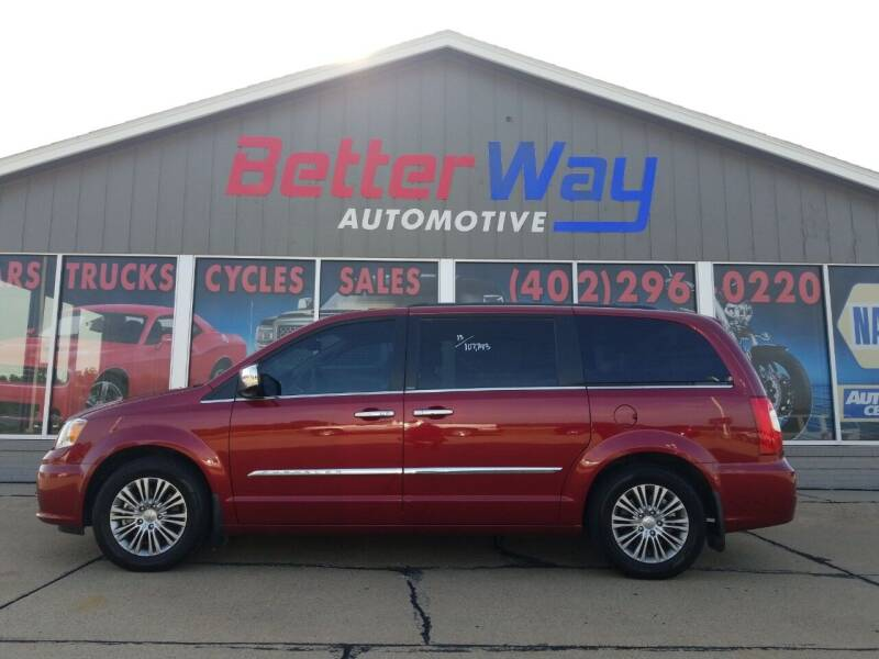2013 Chrysler Town and Country for sale at Betterway Automotive Inc in Plattsmouth NE