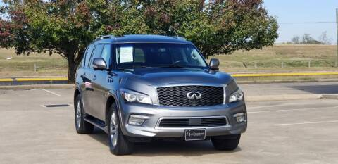2016 Infiniti QX80 for sale at America's Auto Financial in Houston TX