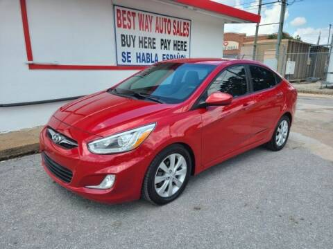 2014 Hyundai Accent for sale at Best Way Auto Sales II in Houston TX