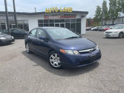 2008 Honda Civic for sale at Auto Land in Manassas VA