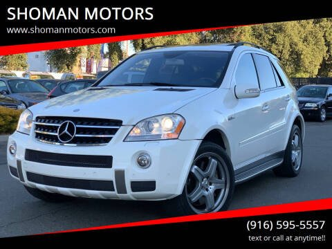 2007 Mercedes-Benz M-Class for sale at SHOMAN MOTORS in Davis CA
