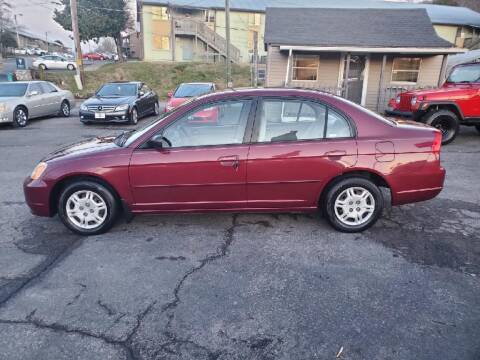 2002 Honda Civic for sale at Knoxville Wholesale in Knoxville TN