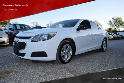 2015 Chevrolet Malibu for sale at American Auto Center in Austin TX