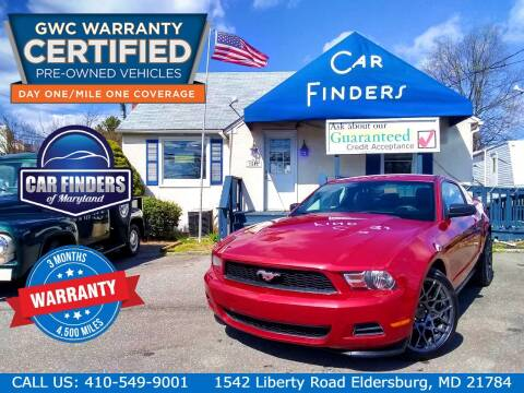 2011 Ford Mustang for sale at CAR FINDERS OF MARYLAND LLC - Certified Cars in Eldersburg MD