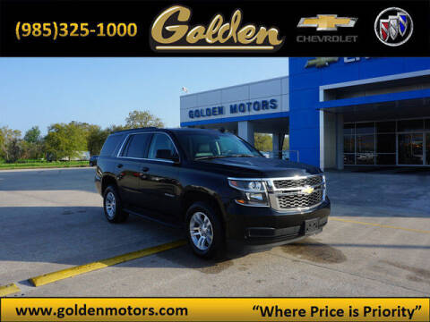 2019 Chevrolet Tahoe for sale at GOLDEN MOTORS in Cut Off LA