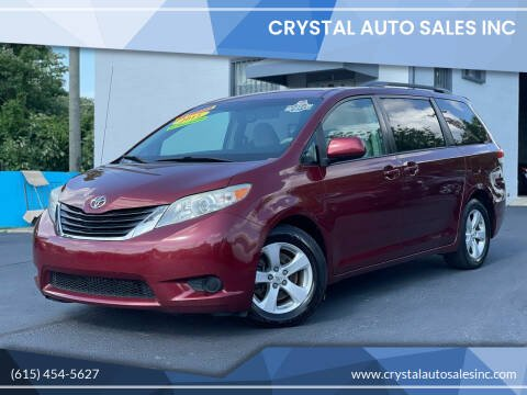2011 Toyota Sienna for sale at Crystal Auto Sales Inc in Nashville TN