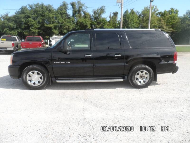 2003 Cadillac Escalade ESV for sale at Town and Country Motors in Warsaw MO