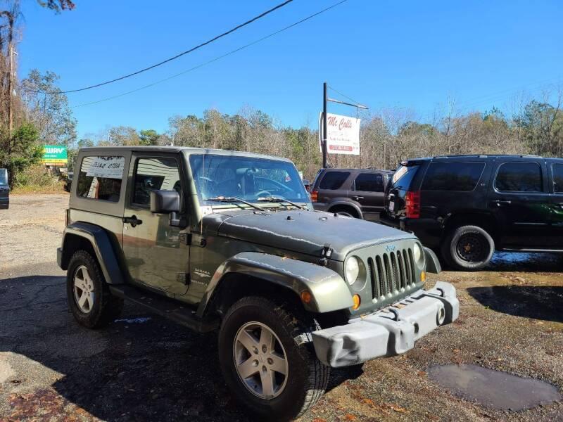2007 Jeep Wrangler for sale at Mc Calls Auto Sales in Brewton AL
