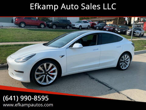 2019 Tesla Model 3 for sale at Efkamp Auto Sales LLC in Des Moines IA