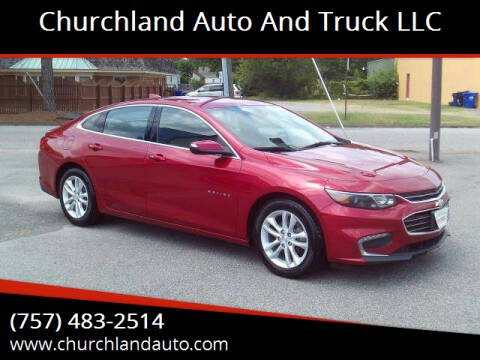 2016 Chevrolet Malibu for sale at Churchland Auto and Truck LLC in Portsmouth VA