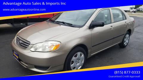 2004 Toyota Corolla for sale at Advantage Auto Sales & Imports Inc in Loves Park IL