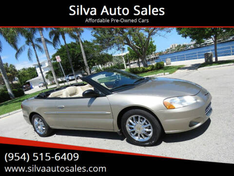 2002 Chrysler Sebring for sale at Silva Auto Sales in Pompano Beach FL