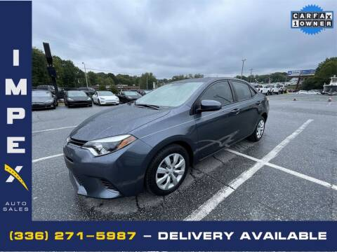 2016 Toyota Corolla for sale at Impex Auto Sales in Greensboro NC