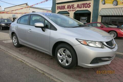 2015 Honda Civic for sale at PARK AVENUE AUTOS in Collingswood NJ