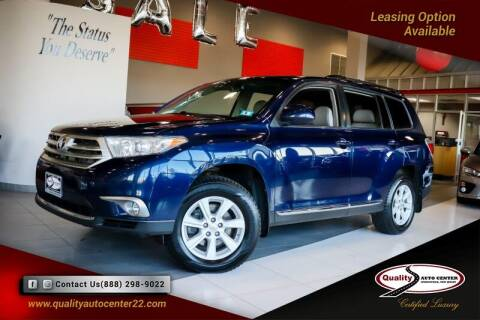2013 Toyota Highlander for sale at Quality Auto Center in Springfield NJ