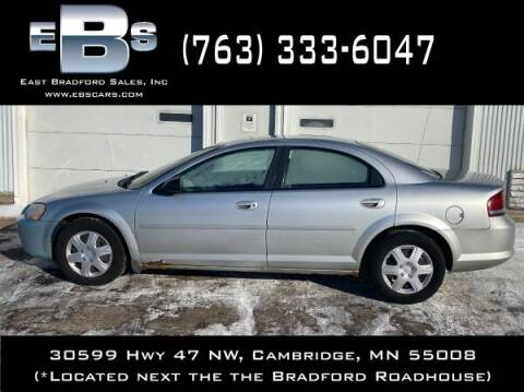 2002 Chrysler Sebring for sale at East Bradford Sales, Inc in Cambridge MN