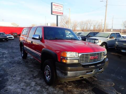 2002 GMC Sierra 2500HD for sale at Marty's Auto Sales in Savage MN