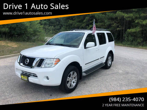2012 Nissan Pathfinder for sale at Drive 1 Auto Sales in Wake Forest NC
