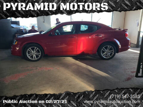 2013 Dodge Avenger for sale at PYRAMID MOTORS - Pueblo Lot in Pueblo CO