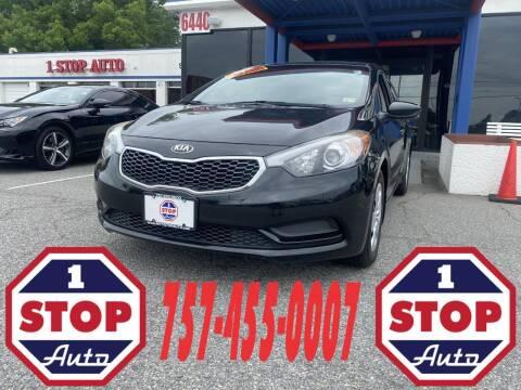 2016 Kia Forte for sale at 1 Stop Auto in Norfolk VA