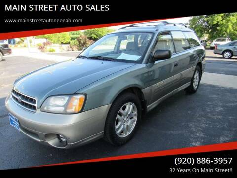 2000 Subaru Outback for sale at MAIN STREET AUTO SALES in Neenah WI