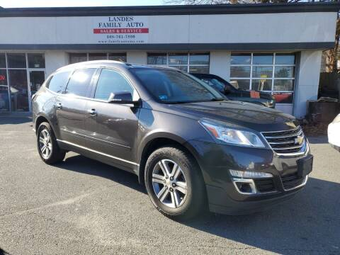2015 Chevrolet Traverse for sale at Landes Family Auto Sales in Attleboro MA