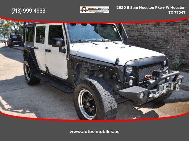 2017 Jeep Wrangler Unlimited for sale at AUTOS-MOBILES in Houston TX