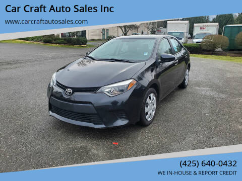 2014 Toyota Corolla for sale at Car Craft Auto Sales Inc in Lynnwood WA