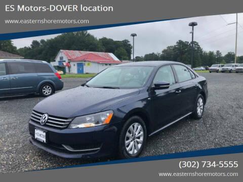 2015 Volkswagen Passat for sale at ES Motors-DAGSBORO location - Dover in Dover DE