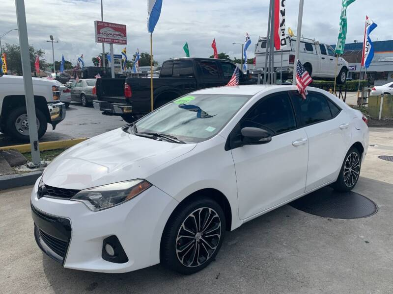 2016 Toyota Corolla for sale at Navarro Auto Motors in Hialeah FL