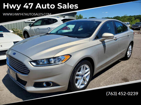 2016 Ford Fusion for sale at Hwy 47 Auto Sales in Saint Francis MN