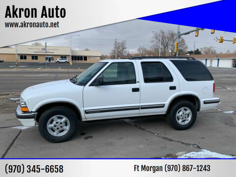 1998 Chevrolet Blazer for sale at Akron Auto - Fort Morgan in Fort Morgan CO